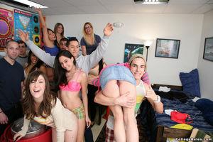 Group of teens strip at college beer..