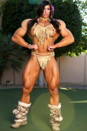 Huge Muscular Amazon posing sexy -..