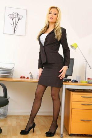 Beauty secretary Natasha Marley in..