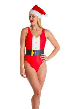 Santa One Piece Swim Suit The Santa Baby