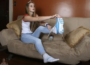 Girl worships girls feet 2 upskirtporn
