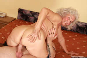 Horn granny Dillon loves to get sticky..