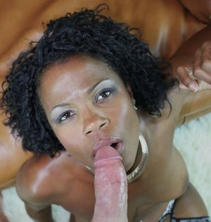 Curly Haired Black MILF Fucked by a..