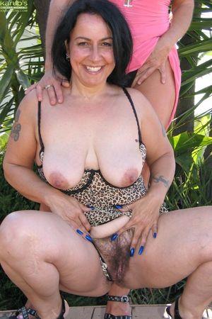 Mature lesbian housewives Angellica &..