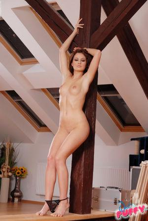 Sexy pornstar Nina Kornikova up close..