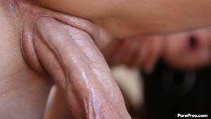 Aubrey Sky enjoys huge in her tight..