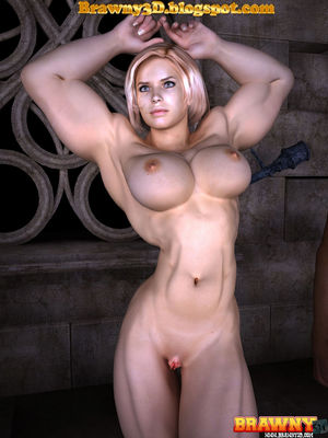 Brawny 3D: Muscle Blonde Girl Sucking..