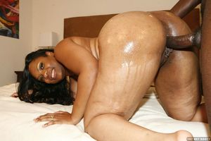 Horny fat ass ebony sex action