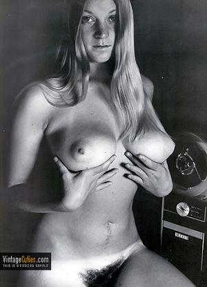 Vintage retro nude..