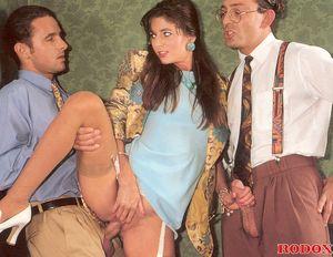 Very sexy secretary fucking her horny..