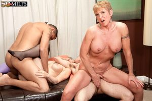 Drunk mature secretaries loving group..