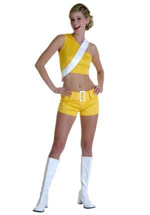 Yellow Soda Girl Costume - Halloween..