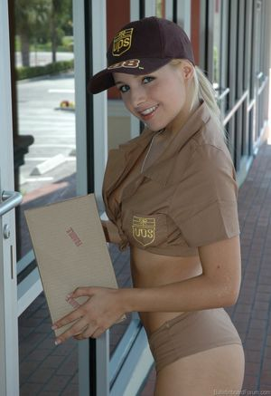 UPS Girl Blonde Porn Jpg
