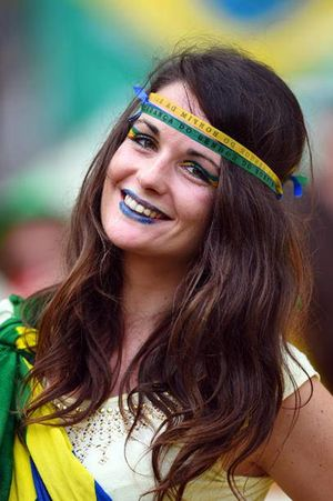 Beautiful Girl Fans FIFA World Cup..