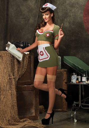 Army Nurse Adult Costume - Halloween..