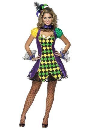 Sexy Mardi Gras Jester Costume -..
