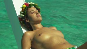 Woman / Sunbathing / Relaxing / Moorea..