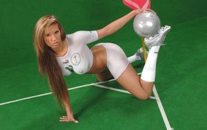 Girls playing football nude - Babes -..