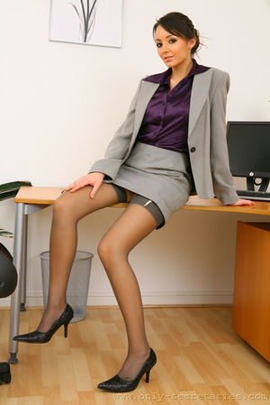 Sexy office girl Rachael B casually..