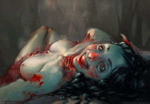 Peter Polach - sexy zombie selfie