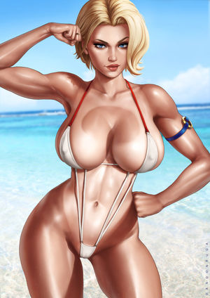 Power Girl on the beach (Dandonfuga)..