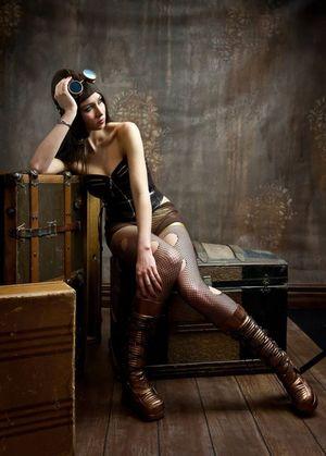 Steampunk girls Photo shoot/Halloween!..