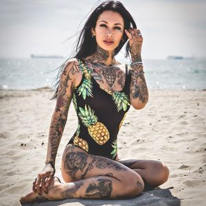 Jackie Luna Flower Tattooed Beauty..