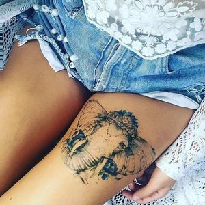 45 Badass Thigh Tattoo Ideas for Women..