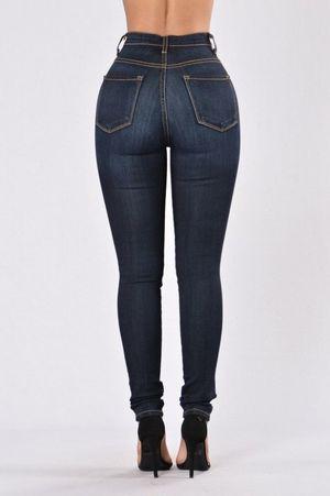 Classic High Waist Skinny Jeans - Dark..