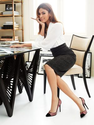 Eva Mendes Interview Clothing Line NY..