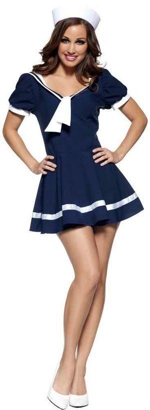 Womens Sassy Sailor Girl Costume Sexy..