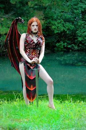 Lamia Leather Demon Costume Big girls..