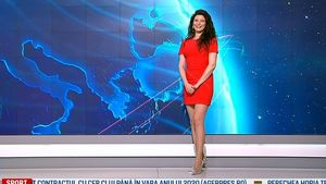 Red hot weather girl - YouTube