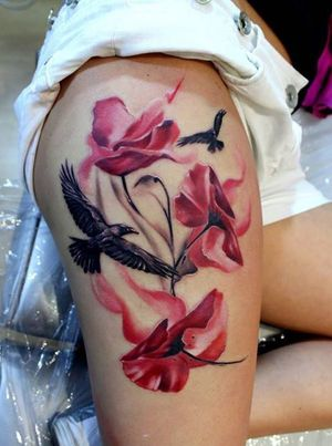 50+ Awesome Thigh Tattoos for Women..
