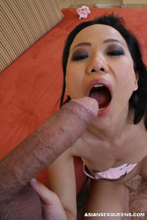 Asian Bitch Sucking Huge and Eating..