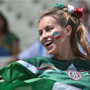 Colorful fans of 2014 World Cup
