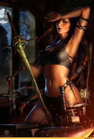 Fantasy art девушка..