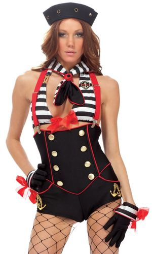 Sexy female sailor shorts with..