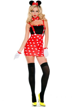 Womens sexy Minnie mouse adult retro..