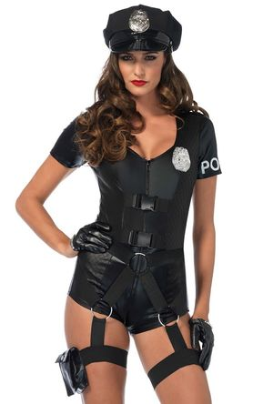 Leg Avenue Police woman black romper..