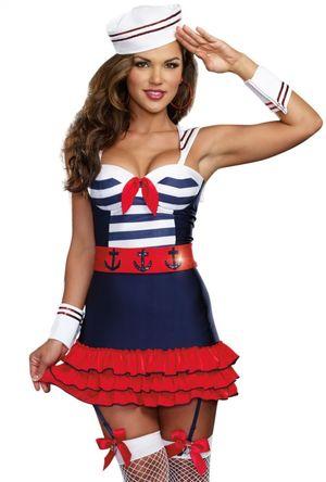 Womens sexy blue Navy sailor girl..