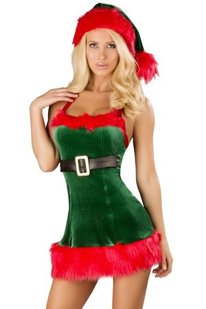 Sexy green Santa's elf Holiday..