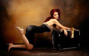 legs, redheads, женщины,..