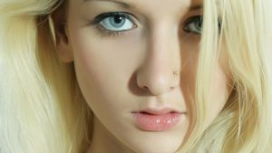 Nika, women, blue eyes, piercings,..