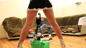 Nude housewifes cleaning house - Other..