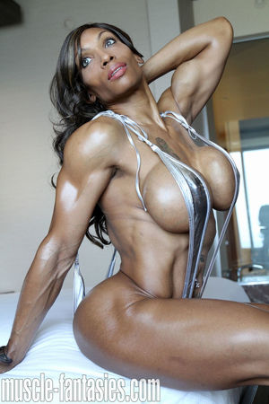 Female bodybuilder nude muscle workout..