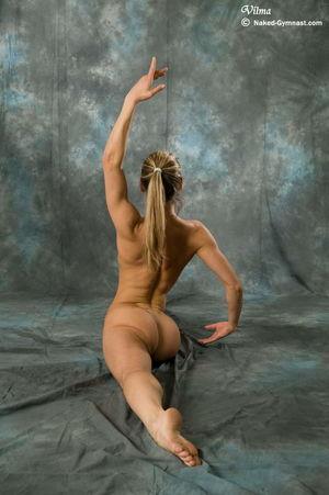 Female nude ballet art