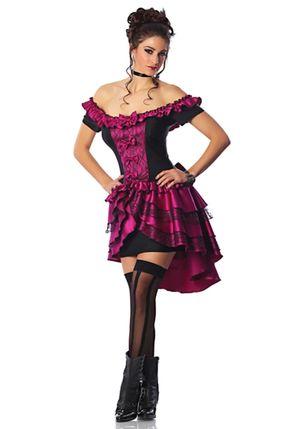 Authentic saloon girl costume