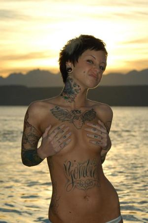 Tattooed alternative girls from Evgen