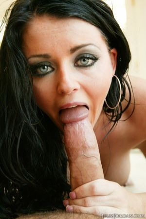 Dark haired Sophie Dee flaunts her..